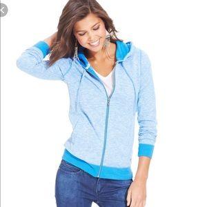 Roxy Beach Star Marled Hoodie Sweatshirt Zip Up